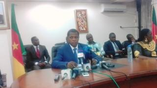 Paul Atanga Nji, Cameroon Minister of Territorial Administration don say partners di use Anglophone crisis for make moni.