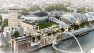 Artist's impression of the planned development on Gateshead Quays