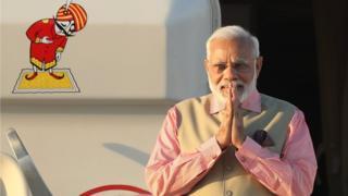Mr Modi became India's PM in 2014