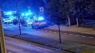 Police at an address in Sarpsborg after a number of stabbings