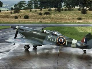 Spitfire at Cumbernauld Airport