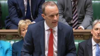 The new Brexit Secretary Dominic Raab