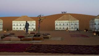 carpas en el desierto