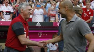 Carlo Ancelotti and Pep Guardila