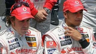 Lewis Hamilton et Fernando Alonso
