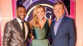 BBC Songs of Praise presenters JB Gill Catherine Jenkins, Aled Jones