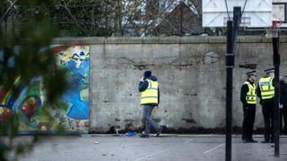 Wall at school