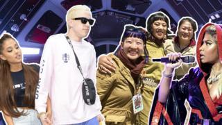 Ariana Grande, Pete Davidson, Rose Tico Cosplay, Nicki Minaj