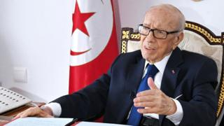 Beji Caid Essebsi pictured in July