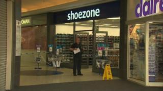 Shoe Zone sits just inside the Deiniol Centre