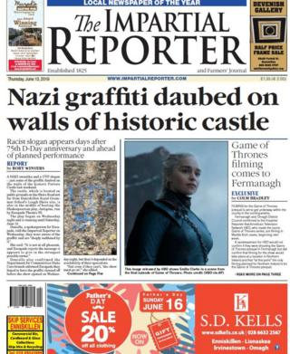 Front page of this week's Impartial Reporter