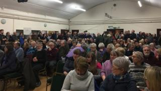 Residents in meeting about village scheme