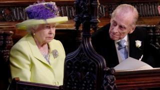 La reina Isabel II junto a su marido el duque de Edimburgo.
