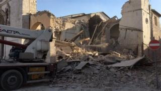 Norcia'a depremin enkazı