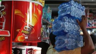 Residents were stockpiling water on Monday