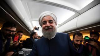 Хасан Роухани во время предвыборной кампании