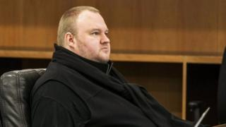 German tech entrepreneur Kim Dotcom attends a court hearing in Auckland, New Zealand, September 21, 2015. A New Zealand court hearing starting on Monday will determine whether Dotcom will face charges of copyright infringement, racketeering and money laundering in the United States related to the Megaupload file-sharing site he founded in 2005.