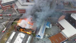Strangeways fire from the air