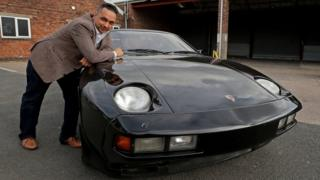 Raj Sadha with George Harrison's porsche