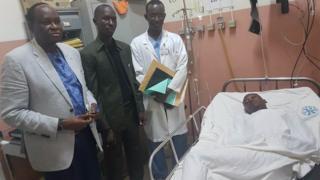Maréchal Madou, l'activiste malien sur son lit d'hôpital à Bamako