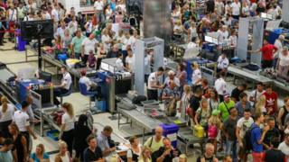 Queues at airport security