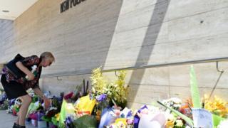 Memorial at scene of Parramatta shooting