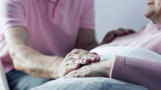 elderly man in hospital