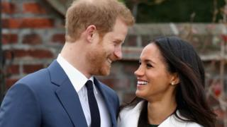 The Duke and Duchess of Sussex after the announcement of their engagement
