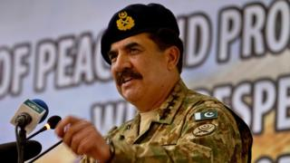 "Pakistan's Army Chief General Raheel Sharif arrive addresses at a seminar on ""Prospects of Peace And Prosperity In Balochistan"" in Gwadar, a remote town about 700km (435 miles) west of Karachi. Pakistan, Tuesday, April 12, 2016."