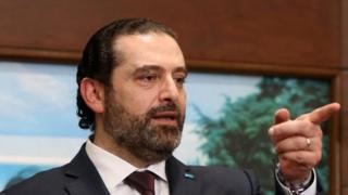 Lebanese Prime Minister Saad al-Hariri in Beirut. Photo: 31 January 2019
