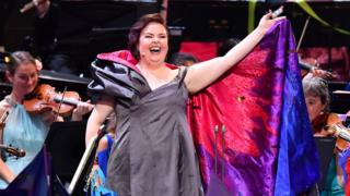 """Queer girl with a nose ring"" rocks the Last Night of the Proms"