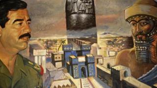 لوحة رُسم فيها صدام حسين ونبوخذ نصر
