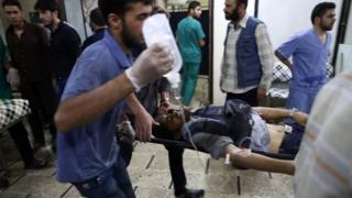 Halep'teki yaralılar