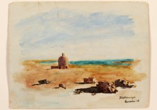 Golden domed building near Lake Habbaniya, Iraq, 1943