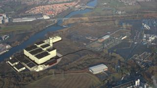 Trafford site where the power plant is planned for