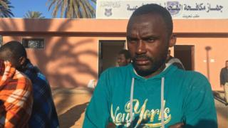 A survivor at the Maitiga detention centre