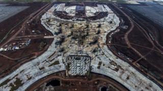Aeropuerto en construcción