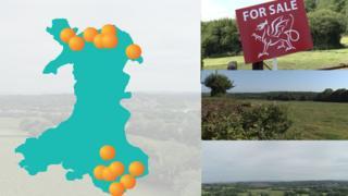 Land sites locator graphic