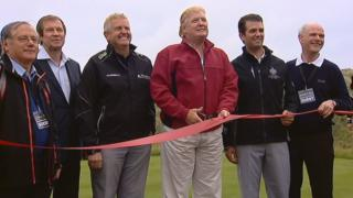 Trump opens course in 2012