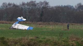 The crash happened shortly after the plane took off from Causeway Airfield, near Coleraine