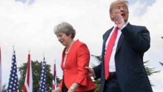 美國總統特朗普與英國首相文翠珊