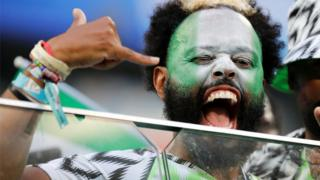 Nigerian football fan