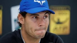 Spain's Rafael Nadal during a press conference in Paris, France.