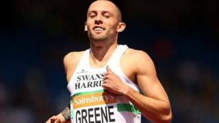 Dai Greene hurdling