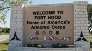 The main gate at the U.S. Army post at Fort Hood, Texas is pictured in this undated photograph, obtained on November 5, 2009.