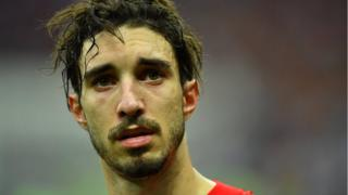 Croatia's Sime Vrsaljko looks dejected after the match, 15 July 2018