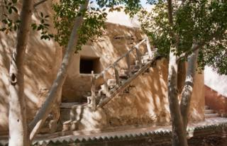 A view of the outside of the monastery, which stands in Wadi El Natrun, in the Egyptian desert