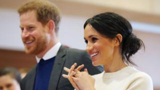 Prince Harry and Meghan Markle in Belfast on 23 March 2018
