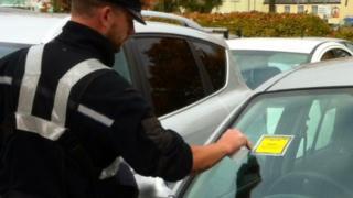 Cornwall Council traffic warden