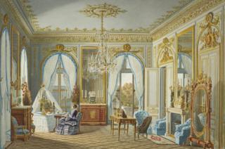 Queen Victoria's dressing room at Saint-Cloud by Jean-Baptiste-Fortuné de Fournier